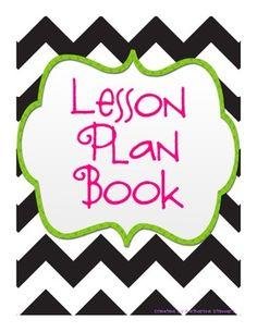 Lesson Plan Book-Future teacher supplies