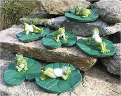 Frogs on Lily Pads (Set of 6) by KFK. $16.95