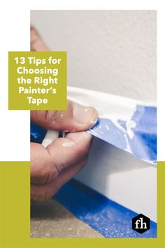 Apply painter's tape faster and more effectively so you can start painting sooner and make fewer mistakes. Painting Tips, House Painting, Paint Prep, Borders For Paper, Paint Drying, Painters Tape, Paint Furniture, Easy Paintings, Masking Tape