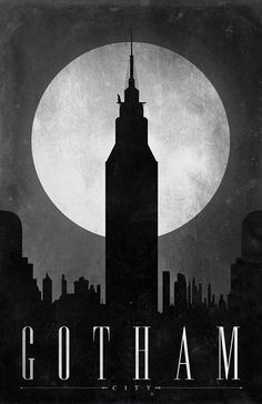 Gotham city. (A nifty mix of New York and Chicago). Specification: Bruce Wayne's penthouse in Gotham City