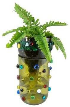 Wine Bottle Planter --could also be done the plastic bottles to pretty them up a bit Wine Bottle Planter, Wine Bottle Art, Wine Bottle Crafts, Cork Crafts, Fun Crafts, Bottles And Jars, Plastic Bottles, Wine Decor, Mosaic Glass