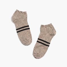 madewell varsity-striped anklet socks.