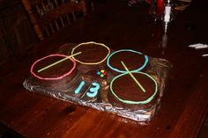 Fun birthday cake for the teen (RockBand drums)
