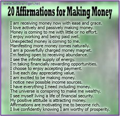 20 Affirmations For Making Money. Positive Affirmations and How They Work Affirmations Positives, Wealth Affirmations, Morning Affirmations, Law Of Attraction Affirmations, Affirmations For Money, Positive Thoughts, Positive Vibes, Positive Quotes, Positive Attitude