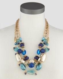 Three-Row Beaded Necklace, Main View #SteinMart