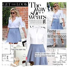 """""""Get the Look: Reese Witherspoon"""" by mars ❤ liked on Polyvore featuring Prada, H&M, Alice + Olivia, Blue Nile, GetTheLook and reesewitherspoon"""