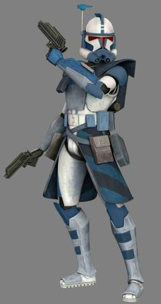 (I didn't create this drawing, the following description is of my creation) ARC Trooper Shark (ARC-5637) is an ARC Trooper who helped fend off the separatist attack on Kamino, and later survived the war to serve under Jedi Masters like Pablo Jill and Depa Bellaba. He was killed in the early phases of the Battle of Mygeeto under the command of Jedi Master Ki Adi Mundi.