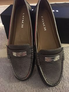 9eb2080c430 Coach Fredrica Loafer - Pewter  fashion  clothing  shoes  accessories   womensshoes