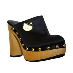 Adelina Clog Black now featured on Fab. My girls would be jealous.