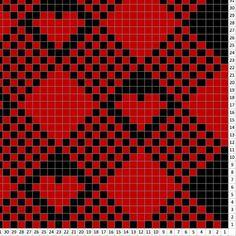 Tapestry Crochet Patterns, Crochet Stitches Patterns, Stitch Patterns, Knitting Patterns, Crochet Heart Blanket, Pixel Crochet Blanket, Graph Crochet, Graph Paper Art, Knitting Charts