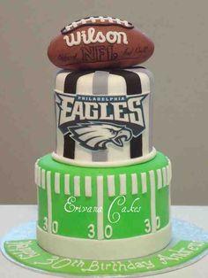 Eagles cake for nephew