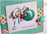 'Tis the Season card on Copic Blog - Thinking Inking