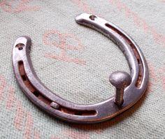 Horseshoe Peg Key Hook Authentic Lucky Cowgirl Cowboy Horse Barn Cap Coat USA .5 #HandmadebyUSASellerLoneRavenRanch
