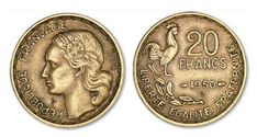 monnaie francaise | 20 francs Guiraud 1950 et 1950 B . Cotations des monnaies française