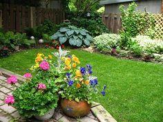 Backyard Container Garden, 500x375