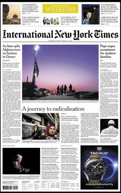 International New York Times New Times, New York Times, International News, Around The Worlds, In This Moment, Shit Happens, Nyc, Cover Pages, News
