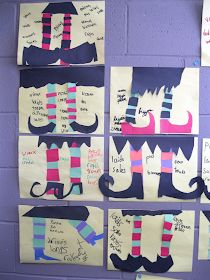 Learning to make french adjectives agree with their noun - ack! This teacher found a fun way to practice this concept with her students. Halloween Arts And Crafts, Halloween Activities, Halloween Kids, French Classroom, Art Classroom, Classroom Themes, French Teacher, Teaching French, 3rd Grade Games