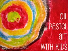 Oil pastel art with kids