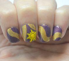 15 Adorable Disney Nail Art Ideas for Kids Diy Disney Nails, Disney Princess Nails, Disney Princesses, Princess Rapunzel, Nail Polish Art, Gel Nail Art, Acrylic Nails, Gel Nails, Nail Manicure