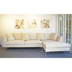 Decenni Custom Furniture u0027Divinau0027 Bone 9.5-foot Modern Sectional Sofa by Decenni Custom Furniture  sc 1 st  Pinterest : 8 ft sectional sofa - Sectionals, Sofas & Couches