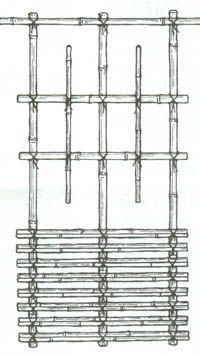 How to tie Japanese Knots to make a bamboo fence or trellis.
