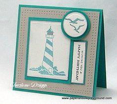 inkadinkado stamped coastal cards - Google Search