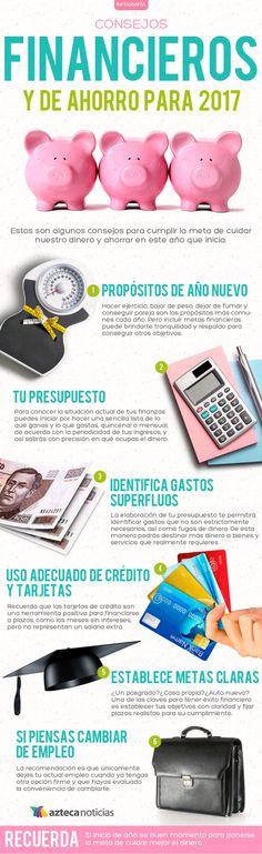 Consejos financieros y de ahorro para 2017 #infografia