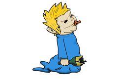 Arte; Inspirado na personagem Maggie de Os Simpsons.
