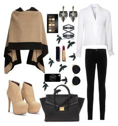 """""""Satires"""" by avb-sets on Polyvore featuring Eva Fehren, Burberry, AG Adriano Goldschmied, Lipsy, Lulu Frost, Forever 21, Maybelline, Chanel and Una-Home"""