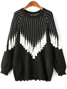 Pullover Sweater With Tassels