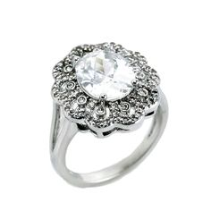 CZ cocktail ring. Sizes 5-9. Item #: r2648