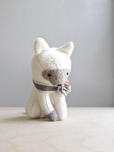 forgotten fox / soft sculpture animal by ohalbatross on Etsy, $68.00