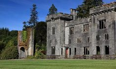 The ruined shell of Armadale castle, Clan Donald Skye.