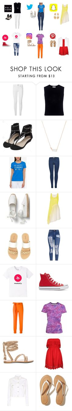 """""""Be creative!!!!!!"""" by cnamy ❤ liked on Polyvore featuring Burberry, A.L.C., Kendra Scott, Tommy Hilfiger, Halston Heritage, Soludos, Converse, MSGM, Boohoo and Maje"""