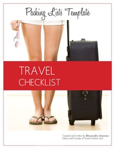 Travel Fashion Girl | Packing List Template: Travel Checklist Download
