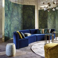Bring extravagance and sophistication to your decor with Taisho from The Muse collection an intricately detailed wall panel. Pair with sumptuous velvets and jewel-toned cushions for a statement look. Lotus Wallpaper, Wallpaper Panels, Print Wallpaper, Wallpaper Wallpapers, Fabric Wallpaper, Zoffany Wallpaper, Stunning Wallpapers, Amazing Wallpaper, Painted Rug