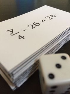 Equation Top-it: Two-Step Equations! It is similar to the card game War but students must solve two-step equations to get their solution. Comes with a beginner and difficult set equation cards in each set). Great for middle school math classrooms dur Algebra Activities, Maths Algebra, Math Resources, Math Games, Algebra Projects, Math Teacher, School Classroom, Teaching Math, Teaching Ideas