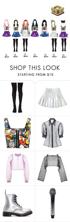 """""""(Melody) Melody in Wonderland at Inkigayo"""" by k-p0p101 ❤ liked on Polyvore featuring Music Legs, WearAll, Christopher Kane, Daizy Shely, demoo parkchoonmoo and Dr. Martens"""
