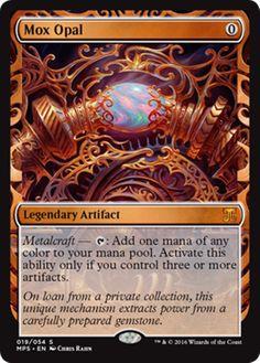Mox Opal Masterpiece Series Kaladesh Inventions Magic the Gathering card