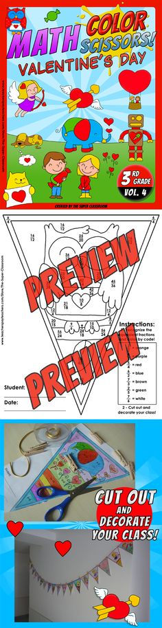 Valentine S Day Math Worksheets For 3rd Grade : Images about valentine s day math ideas on pinterest