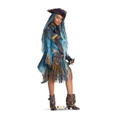 The Descendants 2 Uma Life-Size Cardboard Cutout features the blue-haired sea witch wearing a pirate hat, boots, and blue pirate dress. The Uma decoration is perfect for your child's Descendants 2 birthday party! The Descendants, Descendants Costumes, Drizella Tremaine, Life Size Cardboard Cutouts, Pirate Dress, China Anne Mcclain, Decendants, Disney Figurines, Portrait