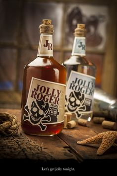 Pirates:  Jolly Roger Dark Spiced Rum. #Pirate.