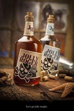 Pirates:  Jolly Roger Dark Spiced Rum. #Pirate.