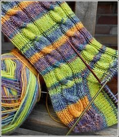 Opal Bicolor Mehr Always wanted to discover how to knit, but unclear where do you start? This particular Complete Beginn. Knitting Patterns Free, Free Knitting, Crochet Patterns, Knitted Slippers, Patterned Socks, My Socks, Sock Yarn, Knitting Socks, Knit Socks