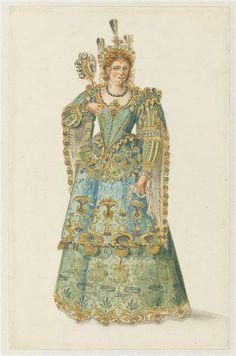 """Recueil """"Costumes des Fêtes, Mascarades - Théâtre de Louis XIV"""" – Projet de costume - Paris, Musée du Louvre"""