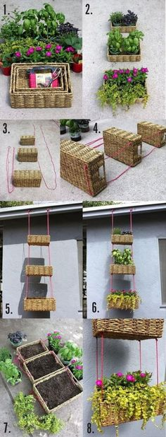 DIY Outdoor Garden Baskets