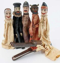 Punch & Judy Puppets - with Alligator.