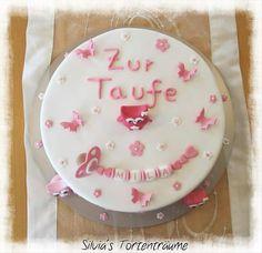 Silvia's Tortenträume: Tauftorten - Taufe - Kuchen - Motivtorten - Fondant - Marzipan - Cake - Kuchen - Cakes - Backen - Baby   Originalbeitrag mit Rezept / Beschreibung etc: