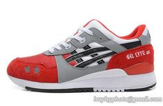 Men's Asics GEL-Lyte III Sneaker H30QK White Red|only US$95.00 - follow me to pick up couopons.