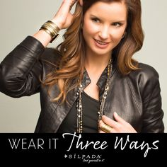 Versatility is in style! There are so many ways to wear #Silpada's new Wrap-Around Necklaces. Click to see 3 looks.